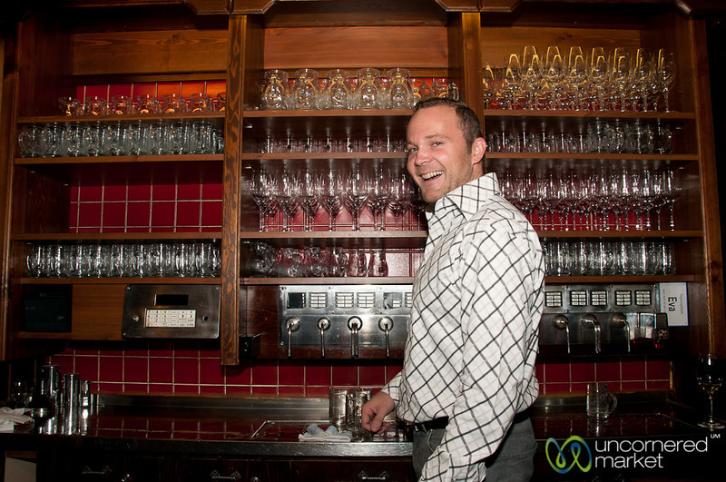 Pouring Wine at the Heuriger - Vienna, Austria
