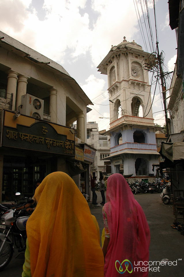 Approaching the Clock Tower Market - Udaipur, India