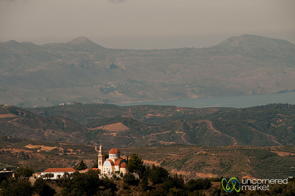 Church Against Hills and Sea - Crete