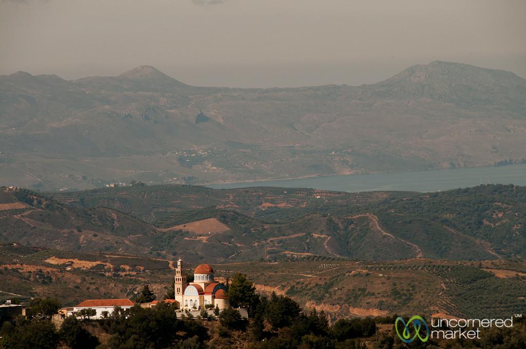 Church Against Hills and Sea - Crete