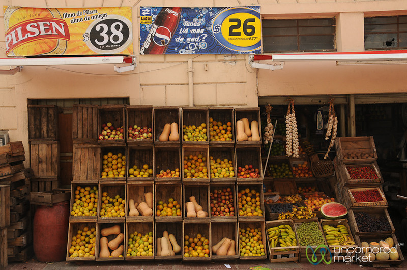 Crates of Vegetables and Fruit - Montevideo, Uruguay