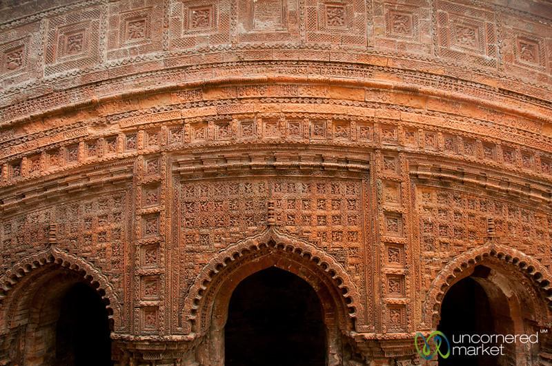 Terracotta Tile Facade at Govinda Hindu Temple - Puthia, Bangladesh