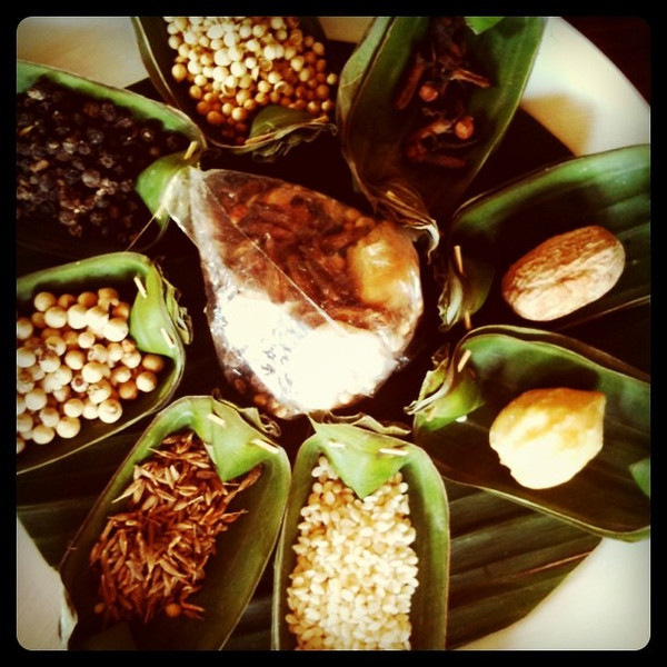 8 spices that make up basic Balinese spice mixture - Ubud, Bali