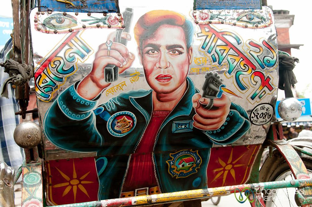 A Bit of Gangster Bollywood Rickshaw Art - Rajshahi, Bangladesh