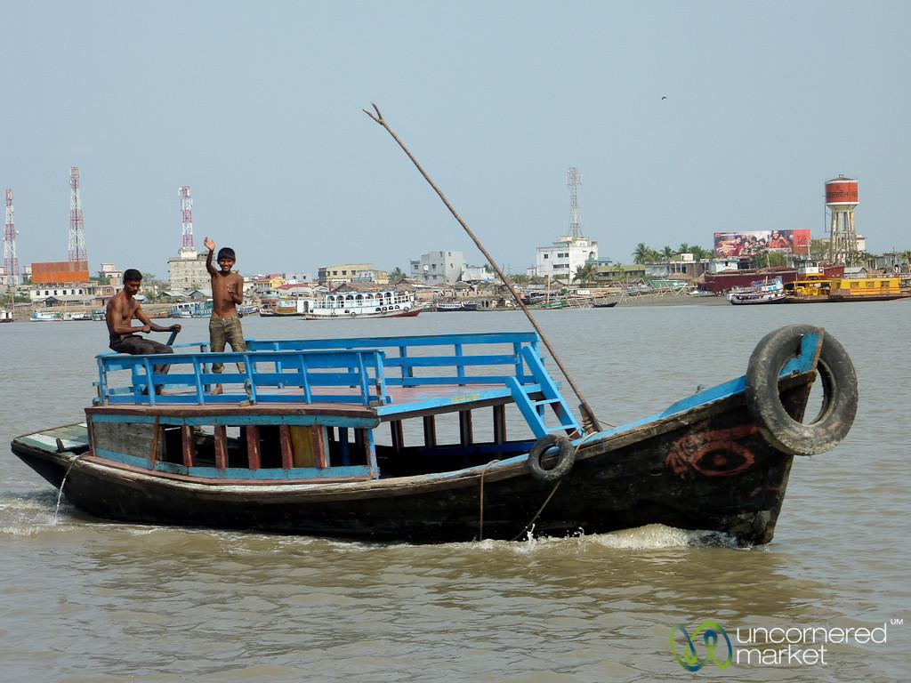 Boats as River Transport - Sundarbans to Khulna, Bangladesh