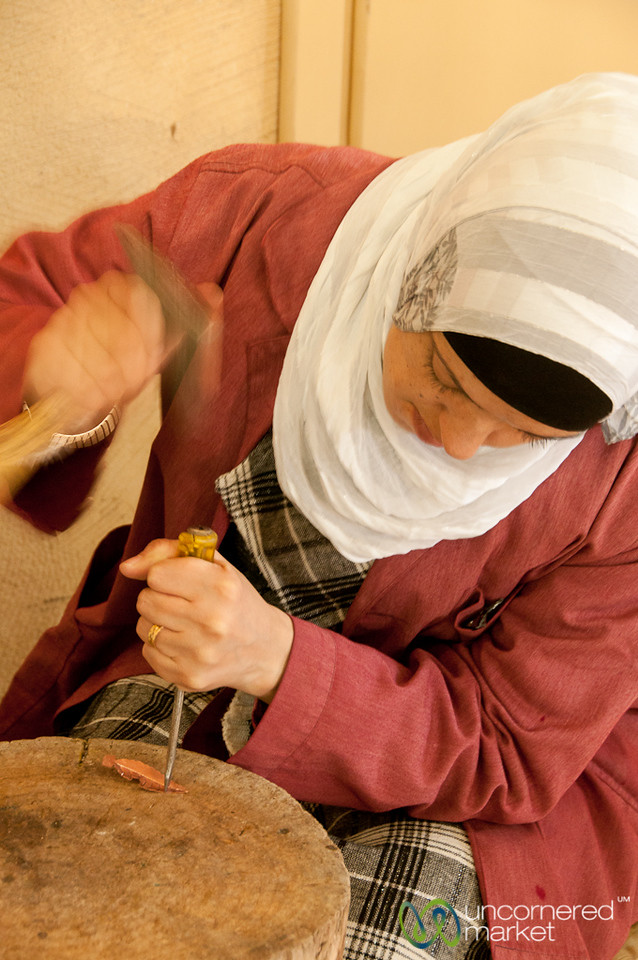 Pounding Away to Make Copper Jewelry - Dana Reserve, Jordan