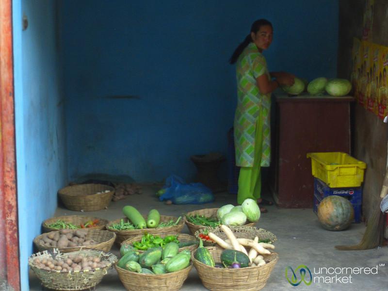 Simple Vegetable Shop Near Pashupatinath - Kathmandu, Nepal