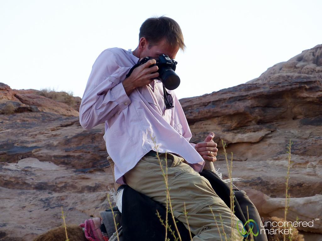 Balancing Photography with Camel Riding - Wadi Rum, Jordan