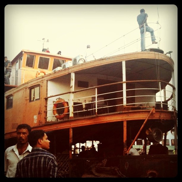 Our might Rocket steamer taking us south from Dhaka to Bay of Bengal #bangladesh