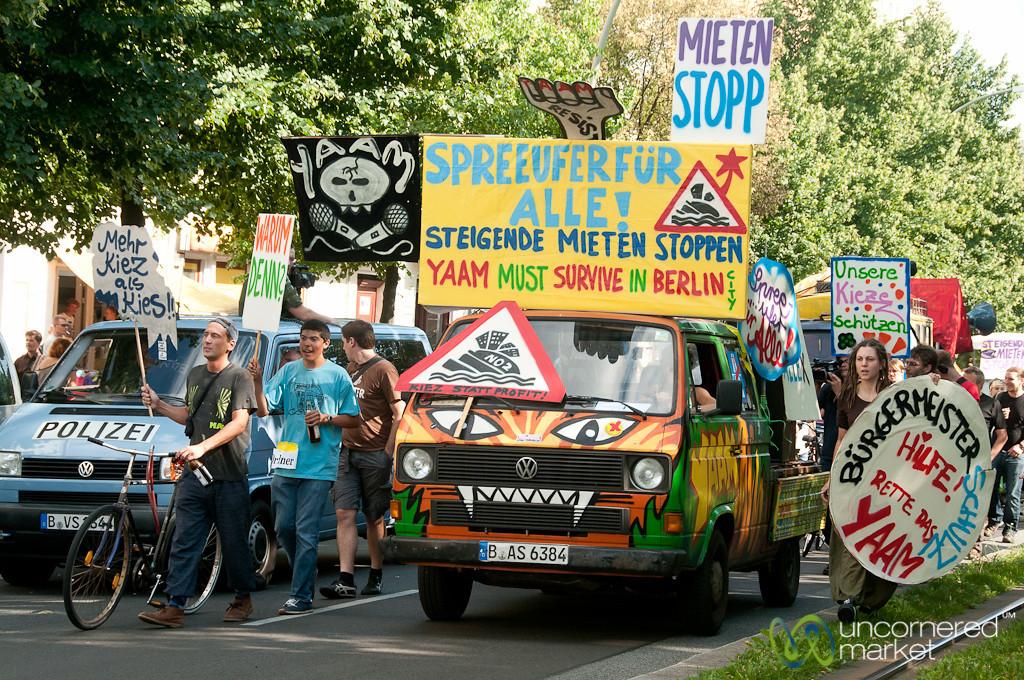 Berlin Demonstration Against Over Development - Friedrichshain, Berlin