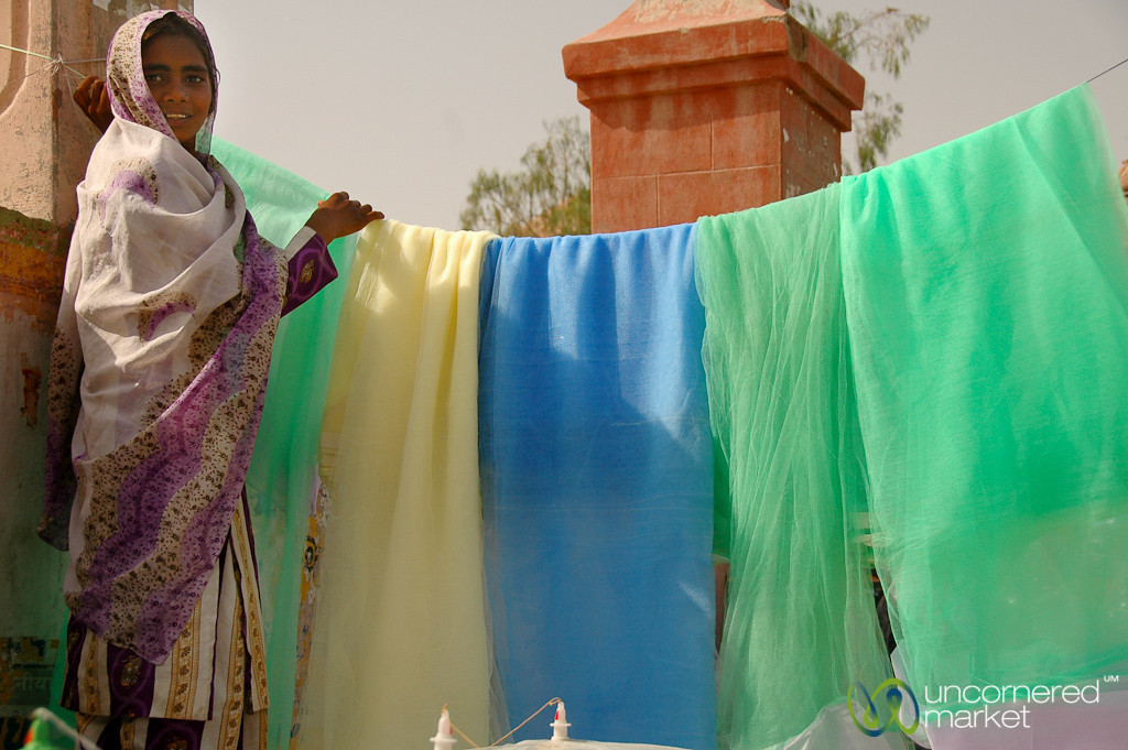 Selling Mosquito Nets - Bikaner, India