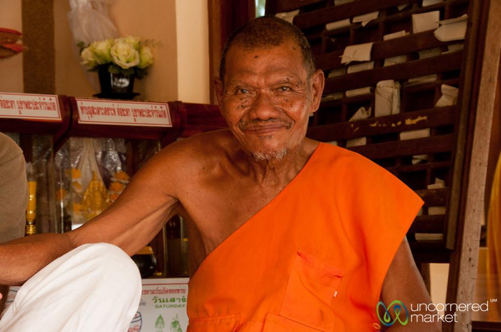 Friendly Monk on Koh Samui, Thailand