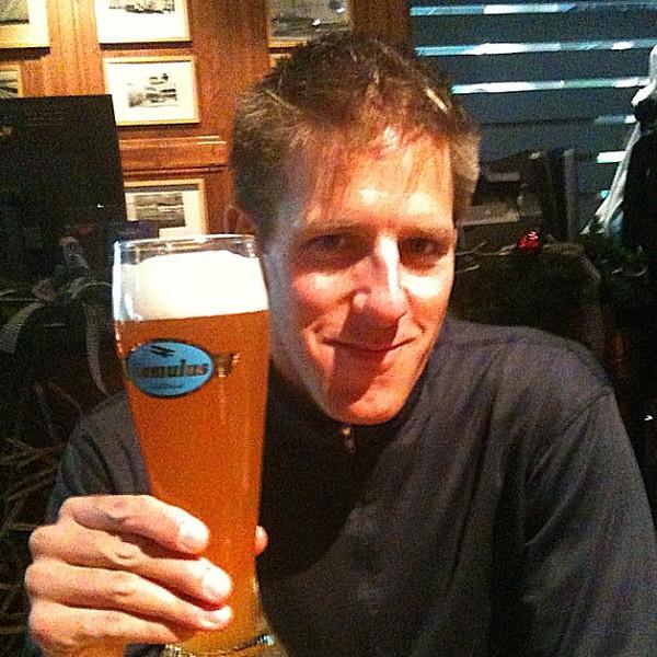 Love Munich airport's beer garden Airbrau. Last weissbier before the US.