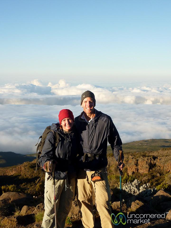 Dan and Audrey at Horombo Huts - Mt. Kilimanjaro, Tanzania
