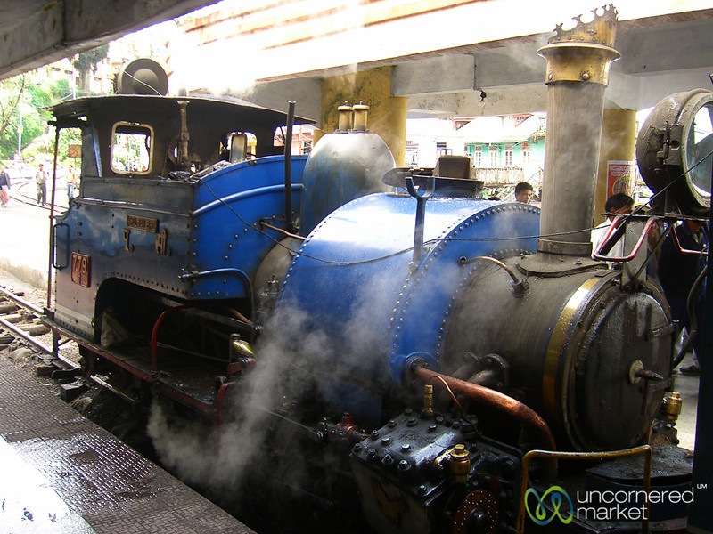 Steam Engine in Darjeeling, India