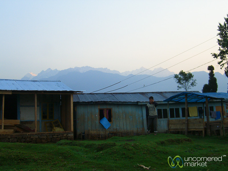 Early Morning in the Village - Lake Khecheopalri, Sikkim