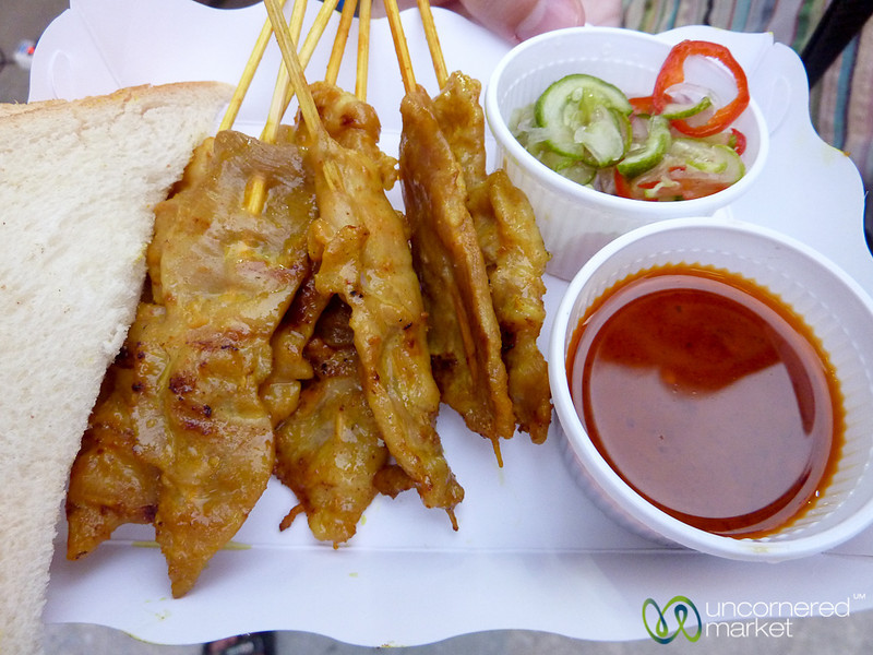 Satay on the Streets of Nathon - Koh Samui, Thailand