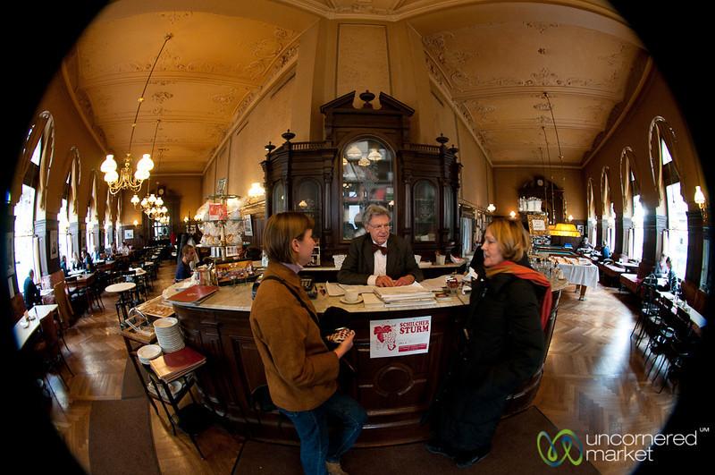 A Fisheye View Inside Cafe Sperl - Vienna, Austria