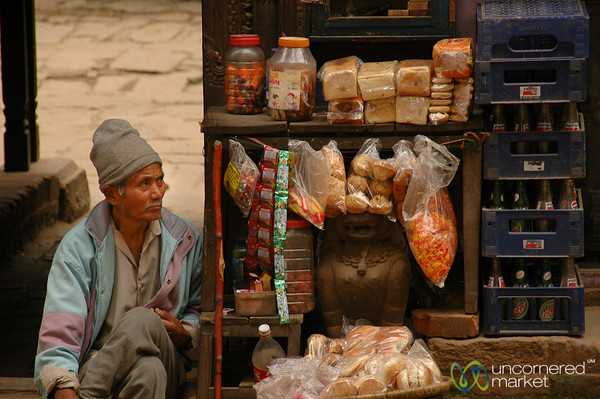Selling a Bit of Everything - Bakhtapur, Nepal