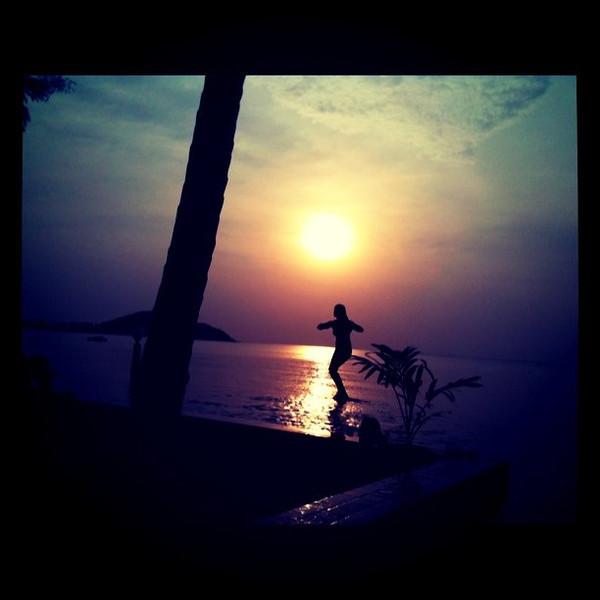 Jumping at dusk - Koh Samui, Thailand