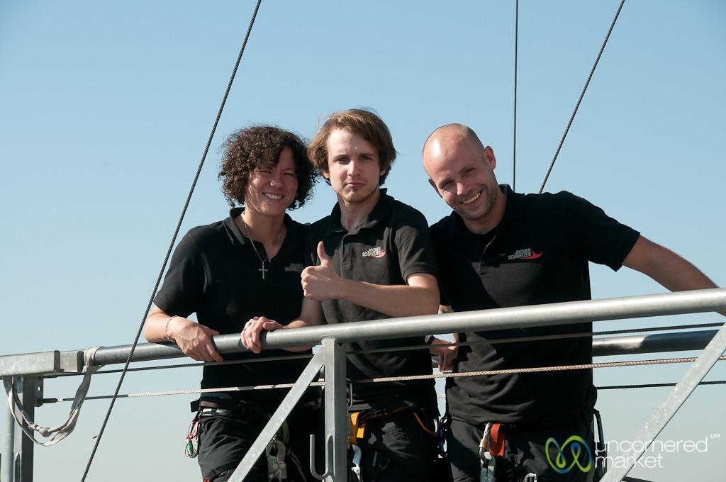 Jochen Schweizer Staff at Base Flying in Berlin