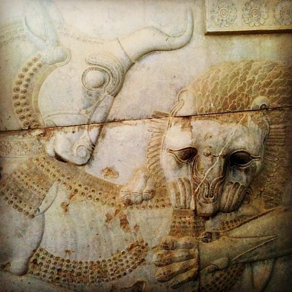 Persepolis relief - Zoroastrian symbol of spring.