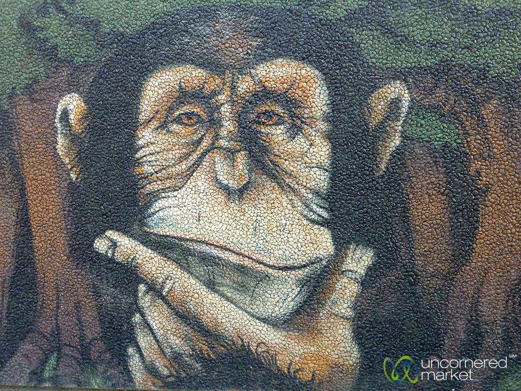 Berlin Graffiti - The Thinker, Chimpanzee