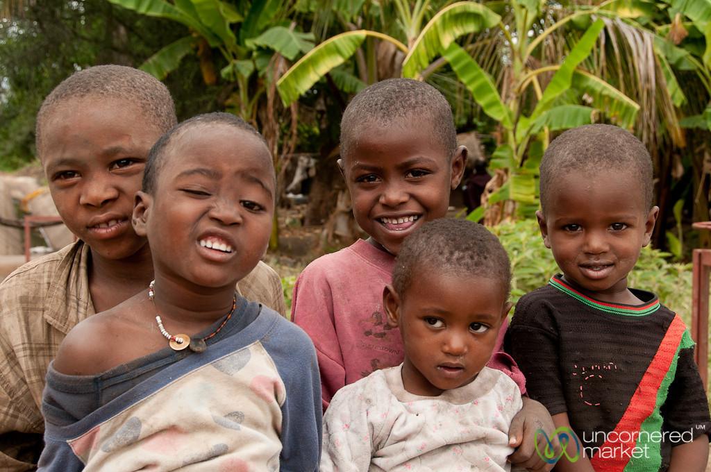 Group of Kids in Mto wa Mbu - Tanzania