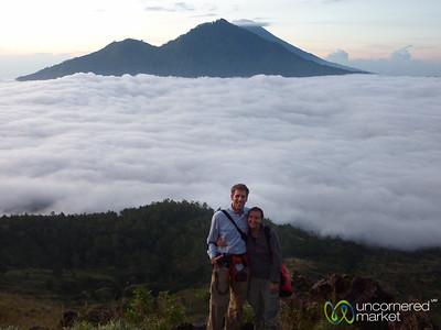 Dan & Audrey at Mt. Batur - Bali, Indonesia