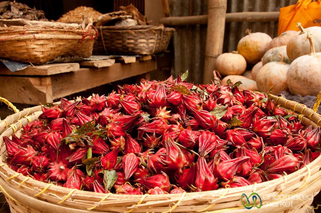 Basket of Unknown Fruit at Bandarban Market - Bangladesh