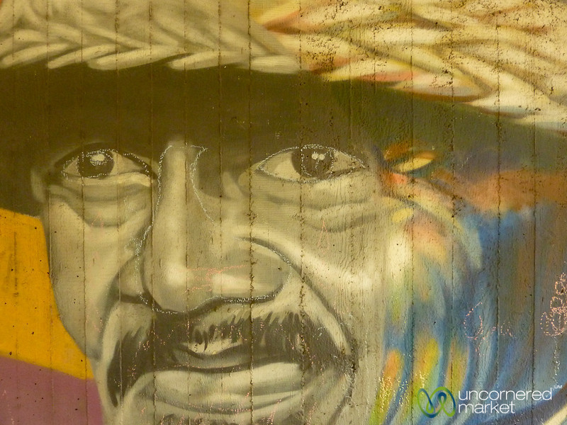 Immigrant Man - Street Art in Berlin, Germany
