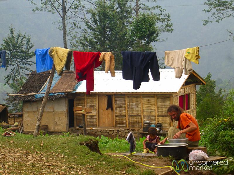 Laundry Time - Lake Khecheopalri, Sikkim