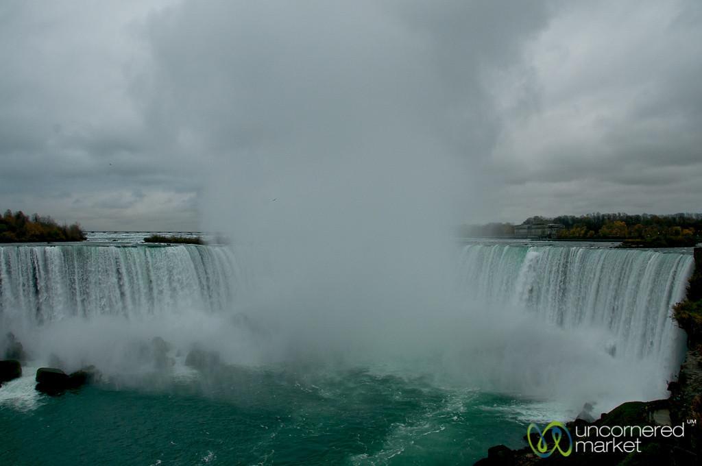 Massive Amounts of Mist at Niagara Falls, Canada