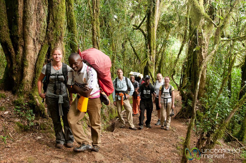 Hiking Up Together, Day 1 - Mt. Kilimanjaro, Tanzania