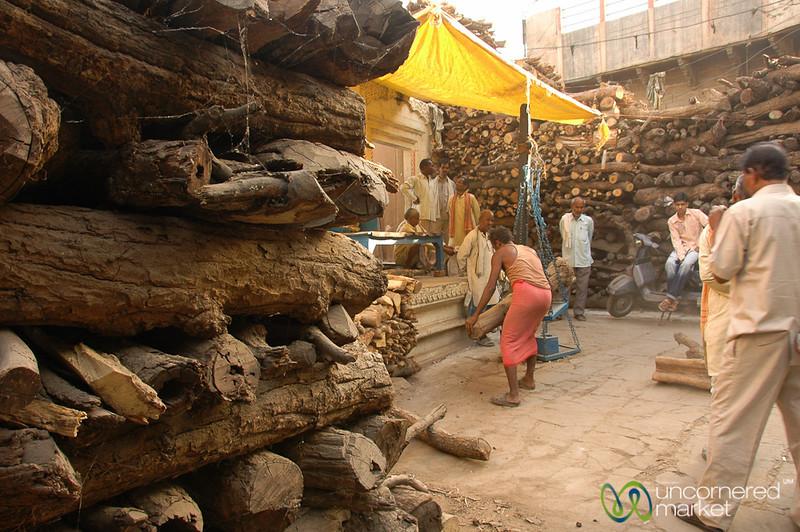 Preparing for the Funeral Pyre  - Varanasi, India