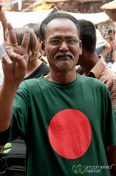 Universal Peace Sign in Old Dhaka, Bangladesh