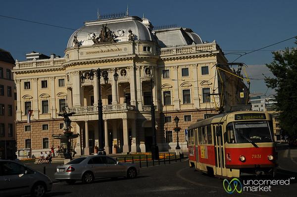 Coming Around the Corner - Bratislava, Slovakia