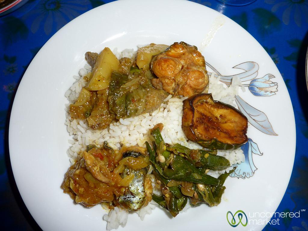 Bangladeshi Dinner at Home Stay - Hatiandha, Bangladesh