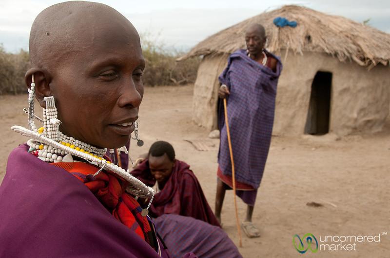 Masai Village Scene - Lake Manyara, Tanzania