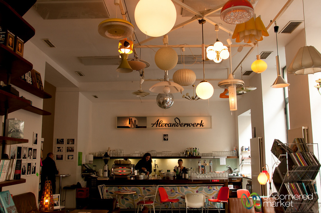 Modern Cafe in Vienna, Austria