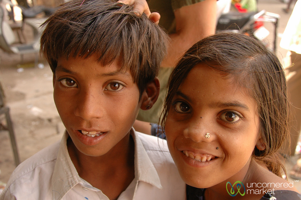 Kids at the Market in Bikaner, India
