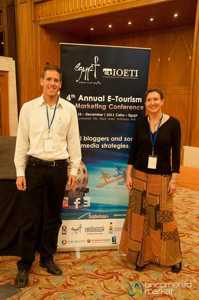 Audrey and Dan at IOETI Conference - Cairo, Egypt