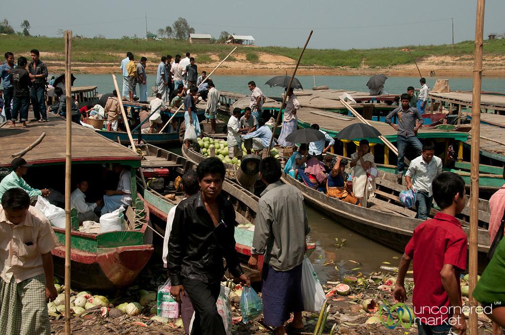 Boat Parking Lot at Market - Rangamati, Bangladesh