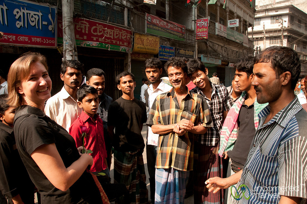 Always a Crowd Around Us in Old Dhaka, Bangladesh