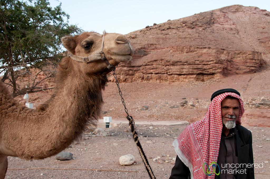 Abu Abdellah Early Morning with his Camel - Feynan EcoLodge, Jordan