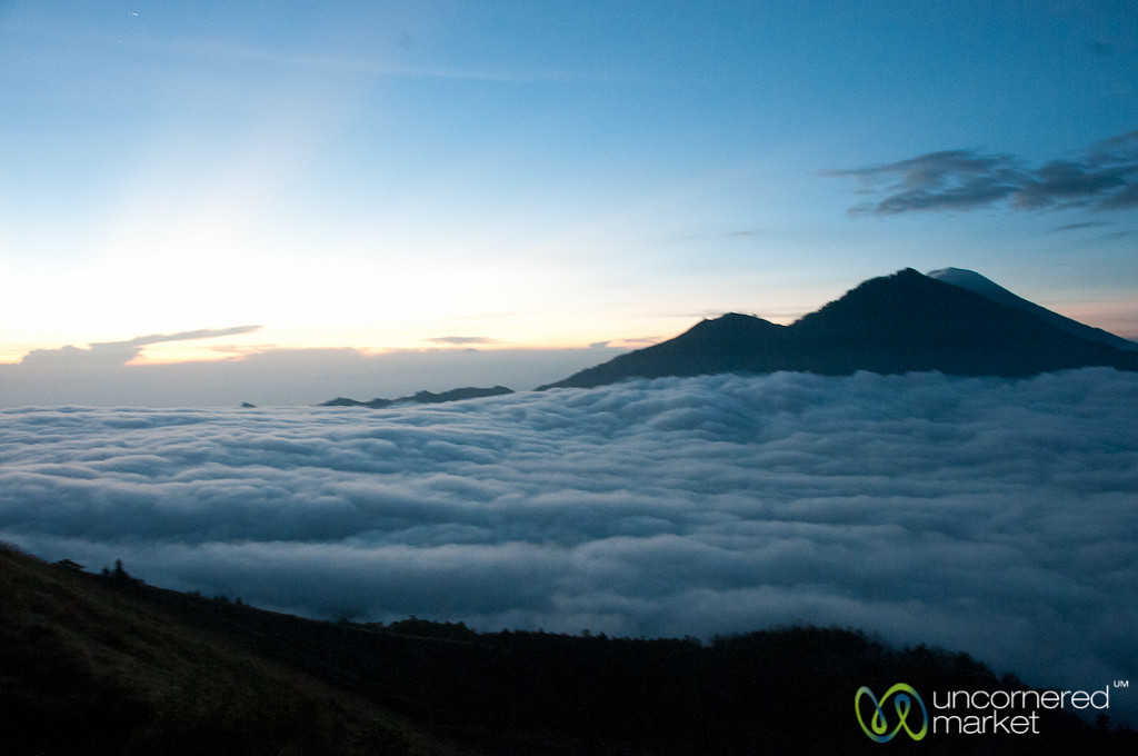 Day Breaks Above Clouds at Mt. Batur - Bali, Indonesia