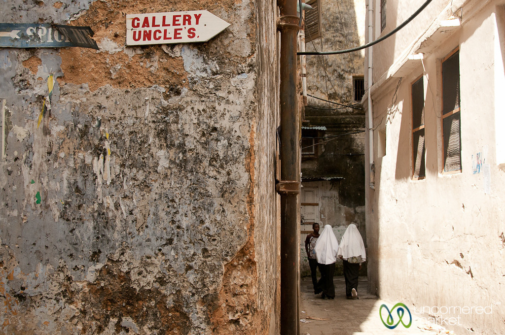 Girls Walking Down Street - Stone Town, Zanzibar
