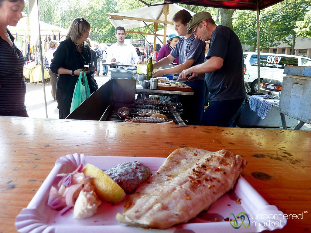 Grilled Fish at Winterfeldplatz Market - Berlin, Germany
