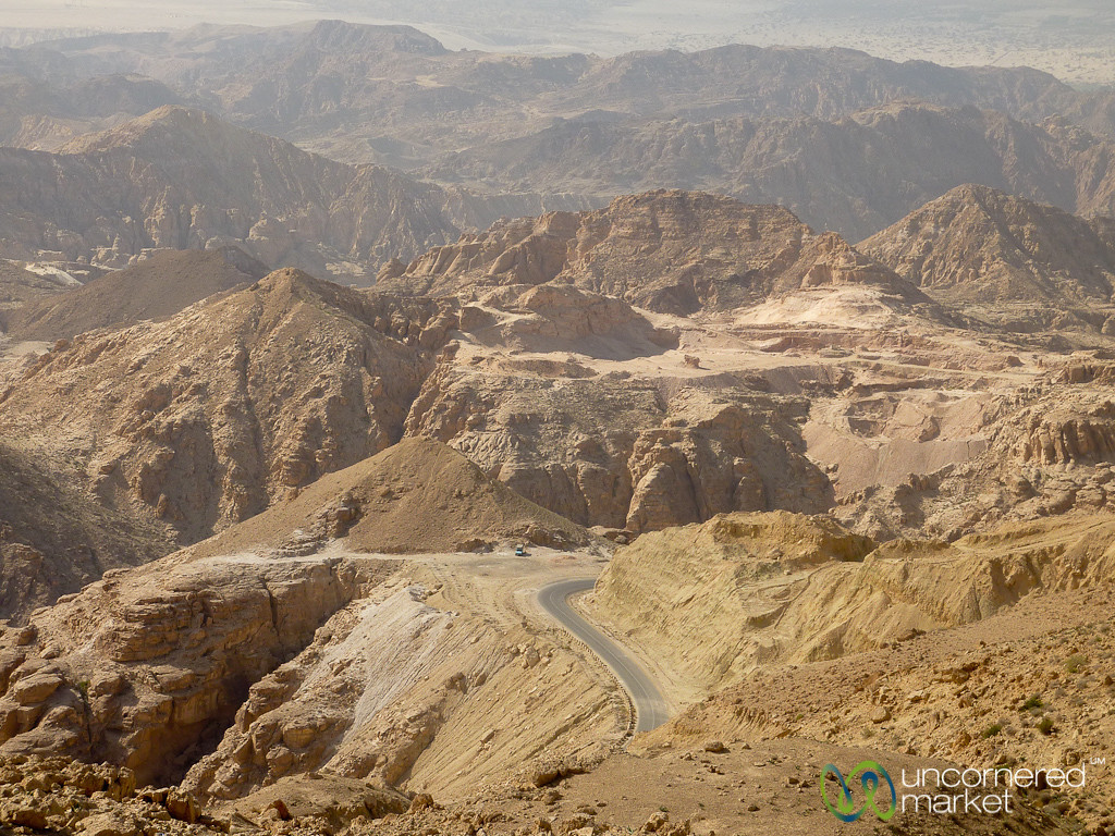 View into the Canyons and Red Rocks -  Jordan