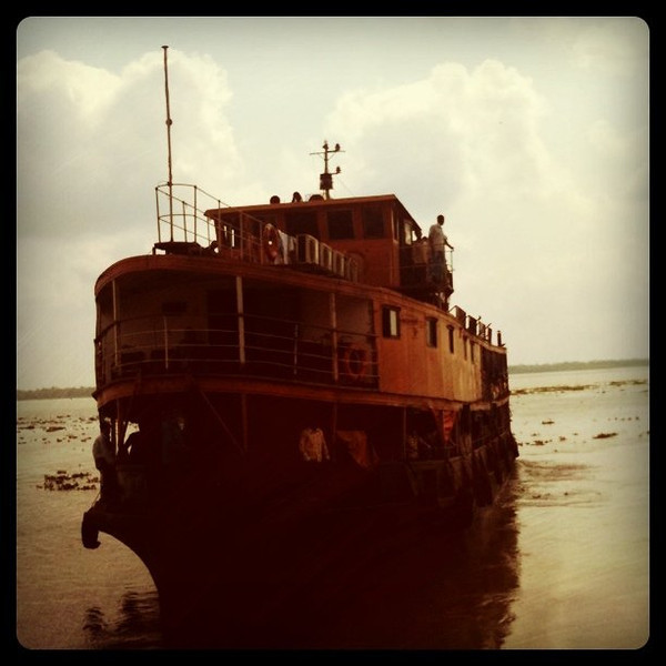 Saying good-bye to our boat, the Rocket. #Bangladesh